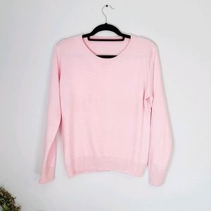 Rose pink cashmere sweater